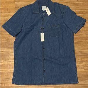 American Eagle Men's Denim Button Up Shirt